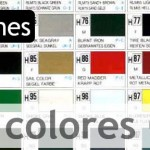 Carta de colores Gunze Sangyo Aqueous y Mr Color