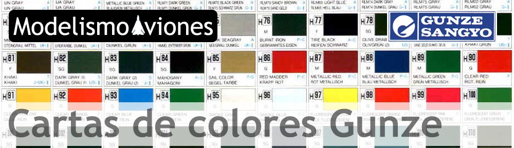 Cartas de colores Gunze