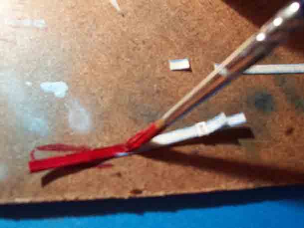 Pintando el arnés para nuestra maqueta