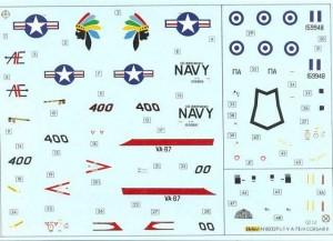 Calcas del A-7H Corsair II de Heller