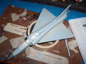 Mirage con camuflaje pintado