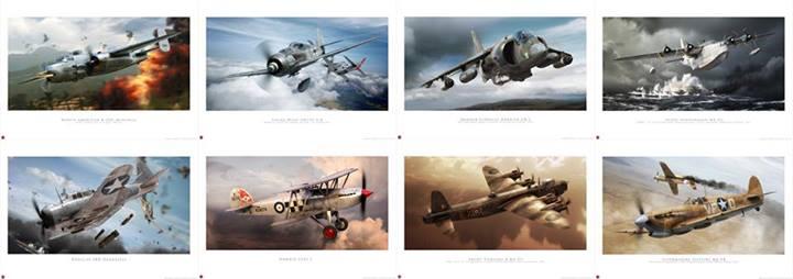 Ilustraciones de Adam Tooby para Airfix