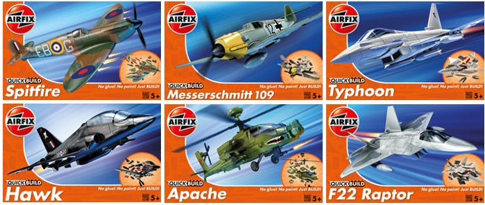 Maquetas Airfix Quick Build