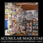 Meme: acumulación de maquetas