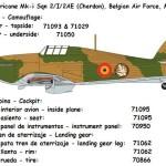 38 fichas de colores de Vallejo para maquetas de aviones