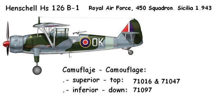 Henschell Hs126B1 Royal Air Force