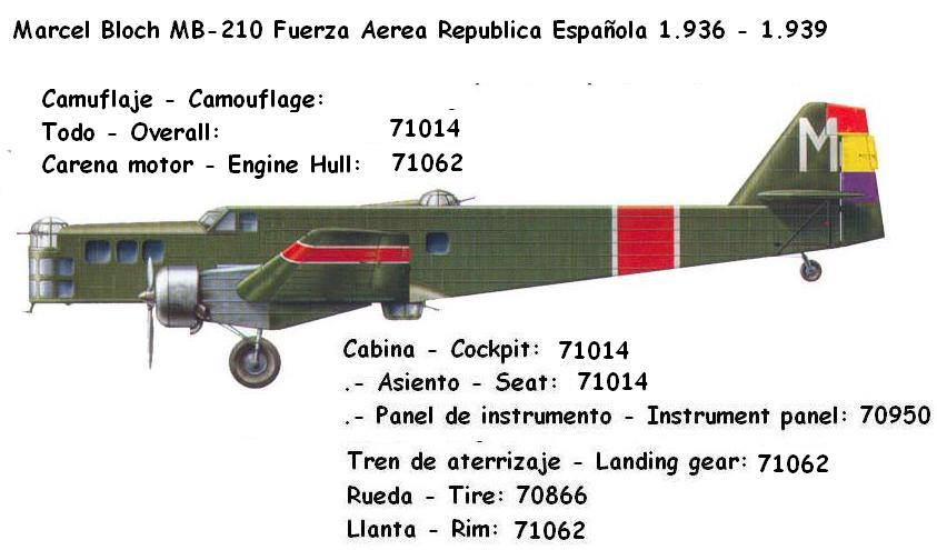 Marcel Bloch MB210 Republica Española