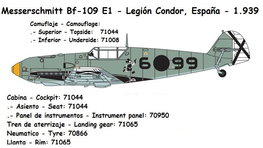 Messerschmitt Bf-109 E1 legion condor