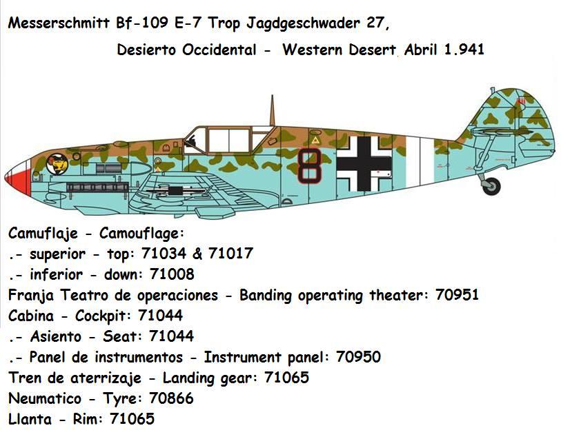 Messerschmitt Bf109 E7