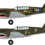 "P-40E Warhawk ""Flying Tigers Combo"" de Hasegawa"
