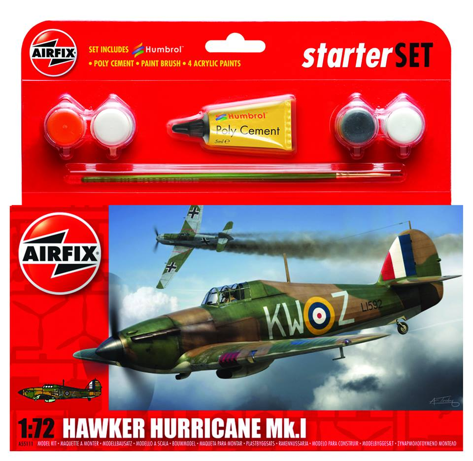Airfix Hawker Hurricane Starter Kit