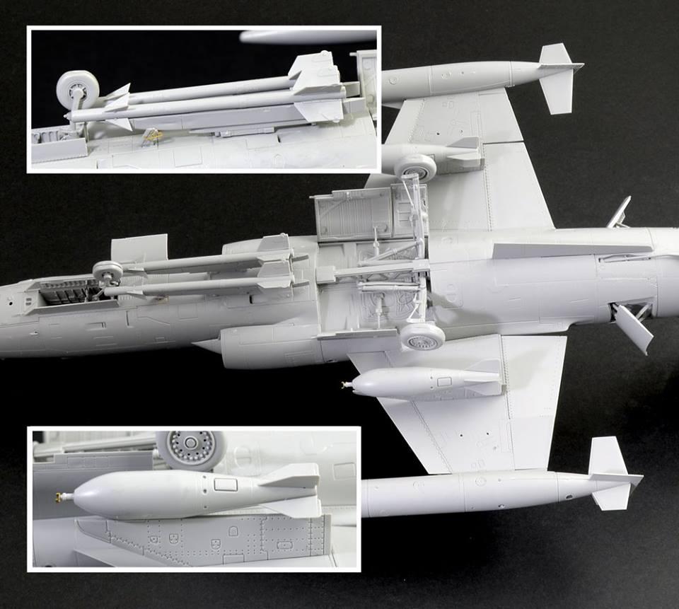 Maqueta F-104 Italeri detalles