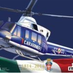Maquetas de helicópteros de los Carabinieri