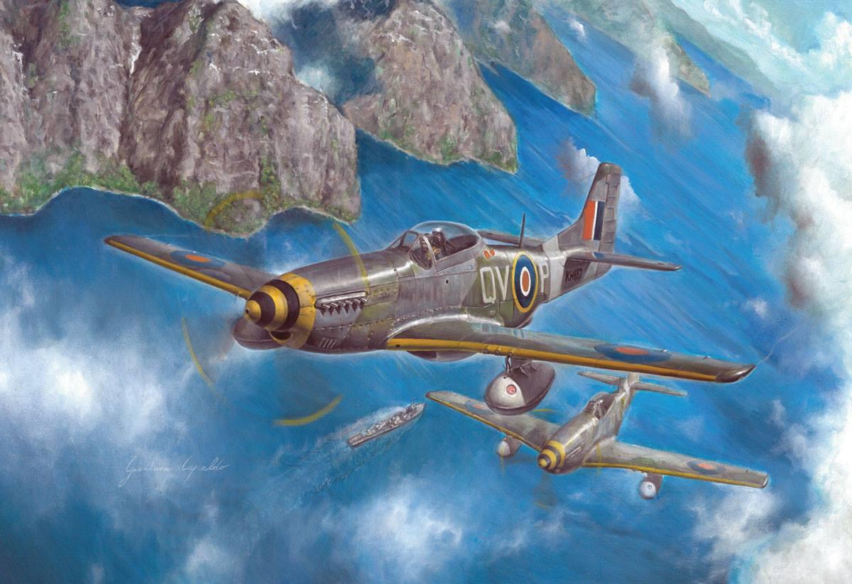 Maqueta de Italeri del P-51 Mustang
