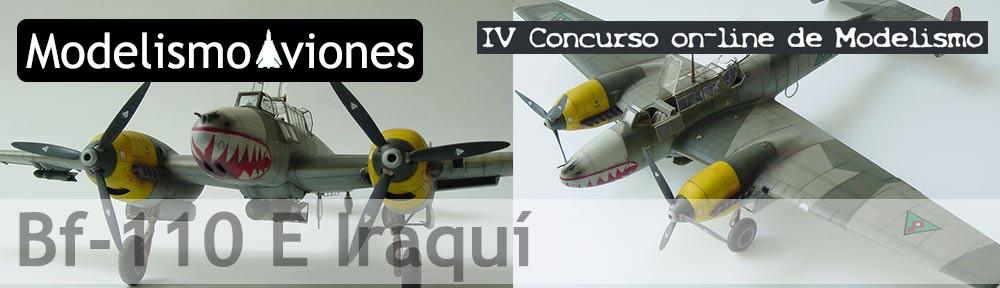 Maqueta Bf-110 E Iraquí