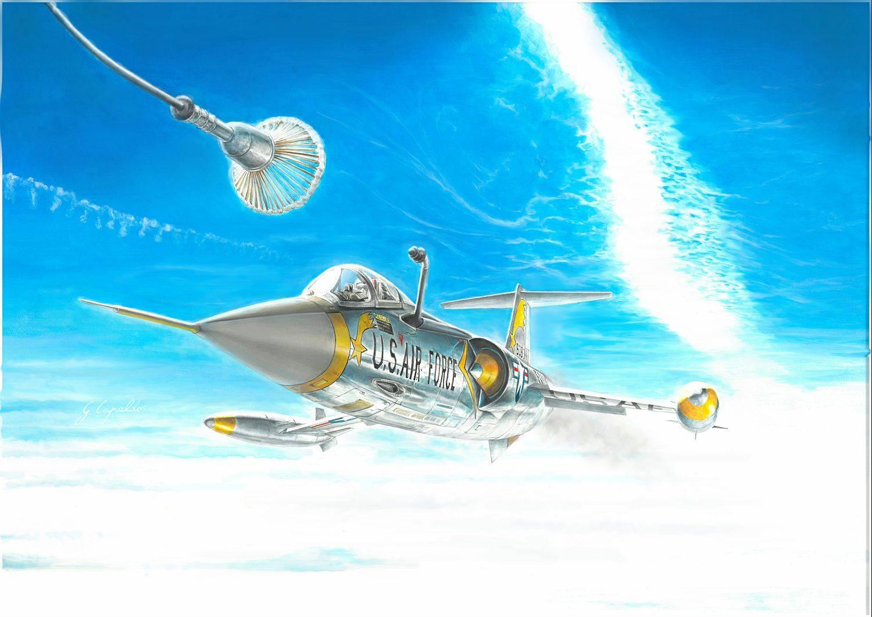 Maqueta del F-104 de Italeri a escala 1/72