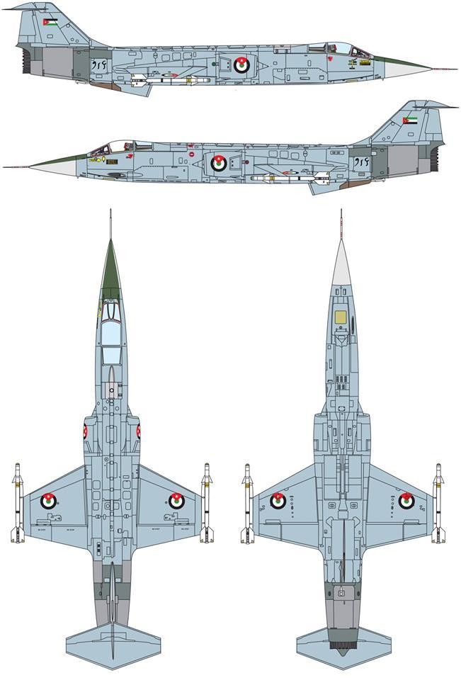 Maqueta F-104 Jordania
