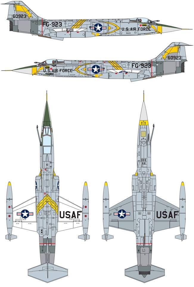 Maqueta F-104 USAF