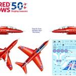 """Nueva maqueta Hawk T1A """"Red Arrows"""" 50th Anniversary de Italeri a 1/48"""