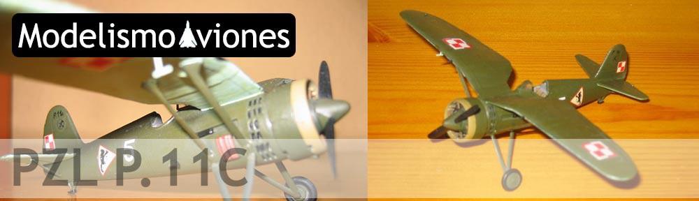 Maqueta avión PZL P.11