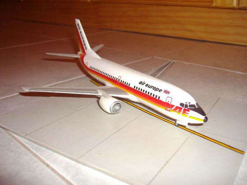 Maqueta Boeing 737 Air Europe 01