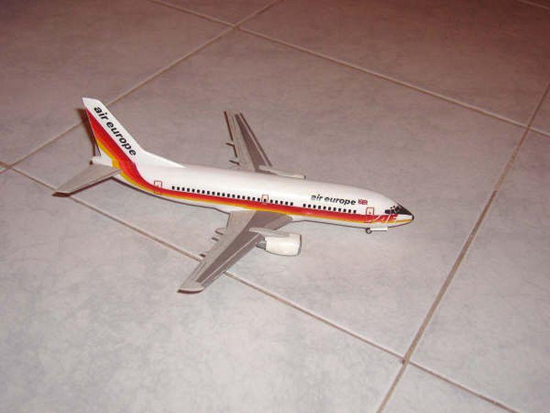 Maqueta Boeing 737 Air Europe 06