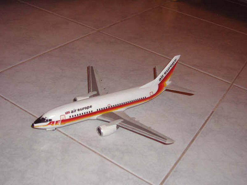 Maqueta Boeing 737 Air Europe 08