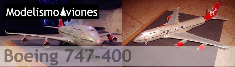 Maqueta Boeing 747 de Virgin Atlantic