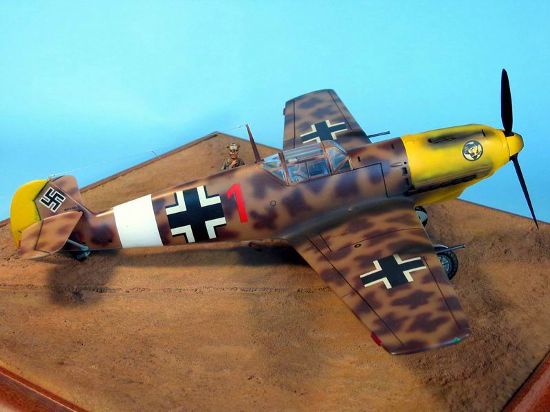 Maqueta Hasegawa Bf-109 Trop 03
