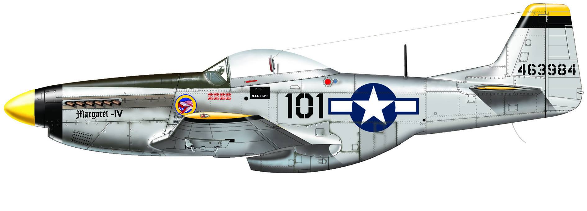 Maqueta P-51 de Italeri Pacific Aces 05