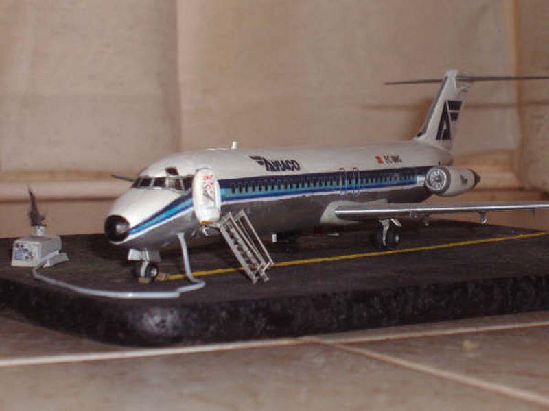 Maqueta DC-9 de Aviaco Airfix 2