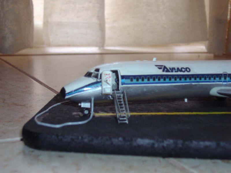 Maqueta DC-9 Aviaco de Airfix 4