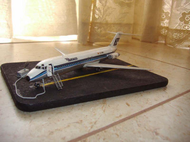 Maqueta DC-9 Aviaco de Airfix 7