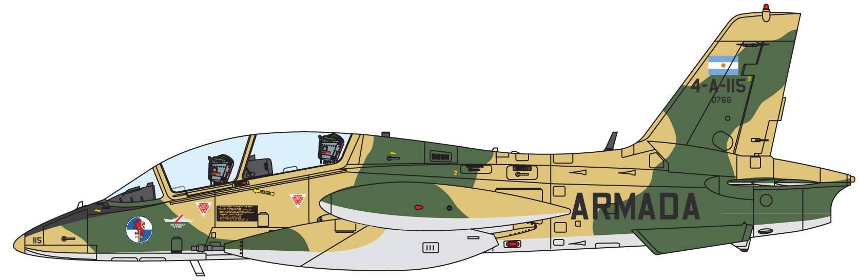 Maqueta Italeri MB-339 Argentina