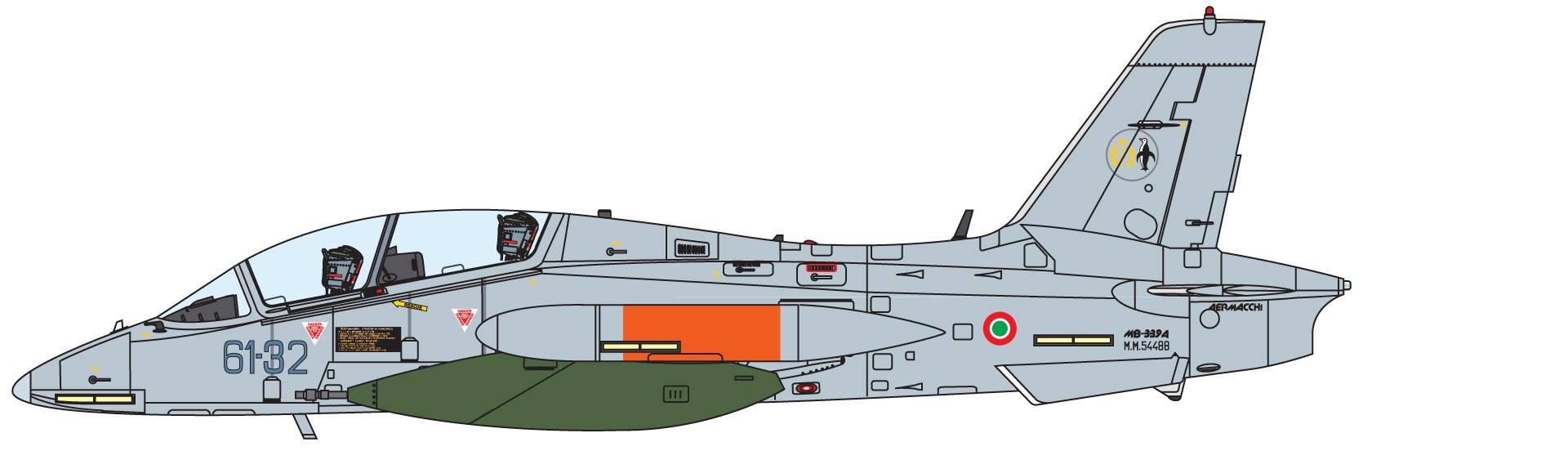 Maqueta Italeri MB-339A 3