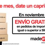 En noviembre envío gratis en MadeInScale