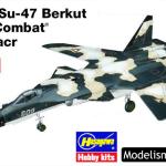 Maqueta del Su-47 Berkut de Ace Combat de Hasegawa a 1/72