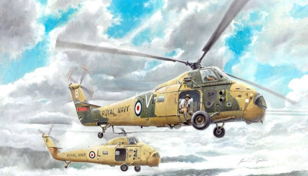 Maqueta helicóptero Wessex HAS 1 de Italeri