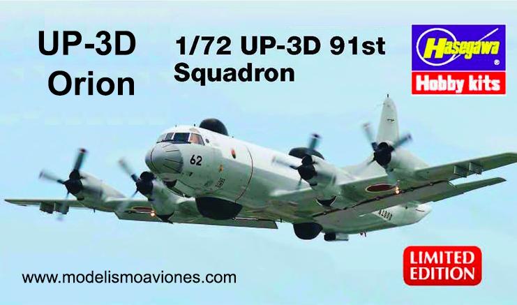 Maqueta P-3 Orion de Hasegawa
