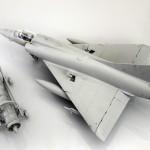 Pruebas de encaje del nuevo Mirage III de Italeri a 1/32